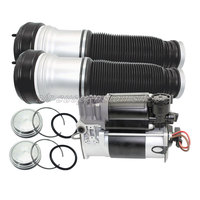 Set Air Suspension Shock Front Left Right Air Spring Bag w/ Gas Shock Compressor Pump for Mercedes Benz W220 S Class 2203202438