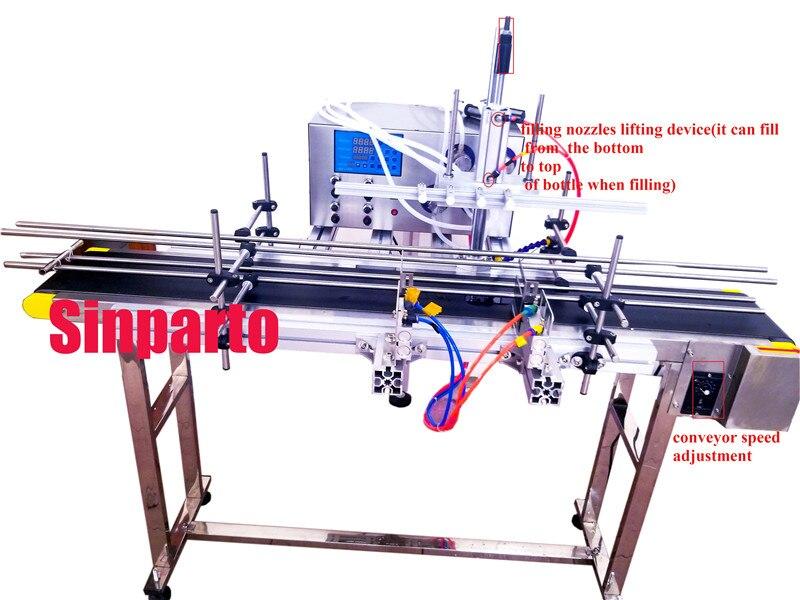 Magnétique pompe de remplissage de bouteilles d'eau entièrement automatique acétone machine de remplissage avec 4 têtes automatique jus huile comestible machine de dosage