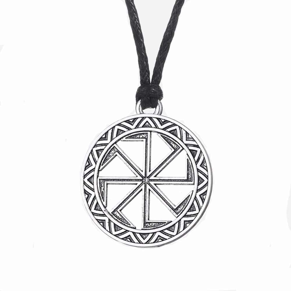 Рыбий крючок дропшиппинг славянский серебряный кулон Символ подвеска Коловрат ожерелья в языческом стиле для мужчин