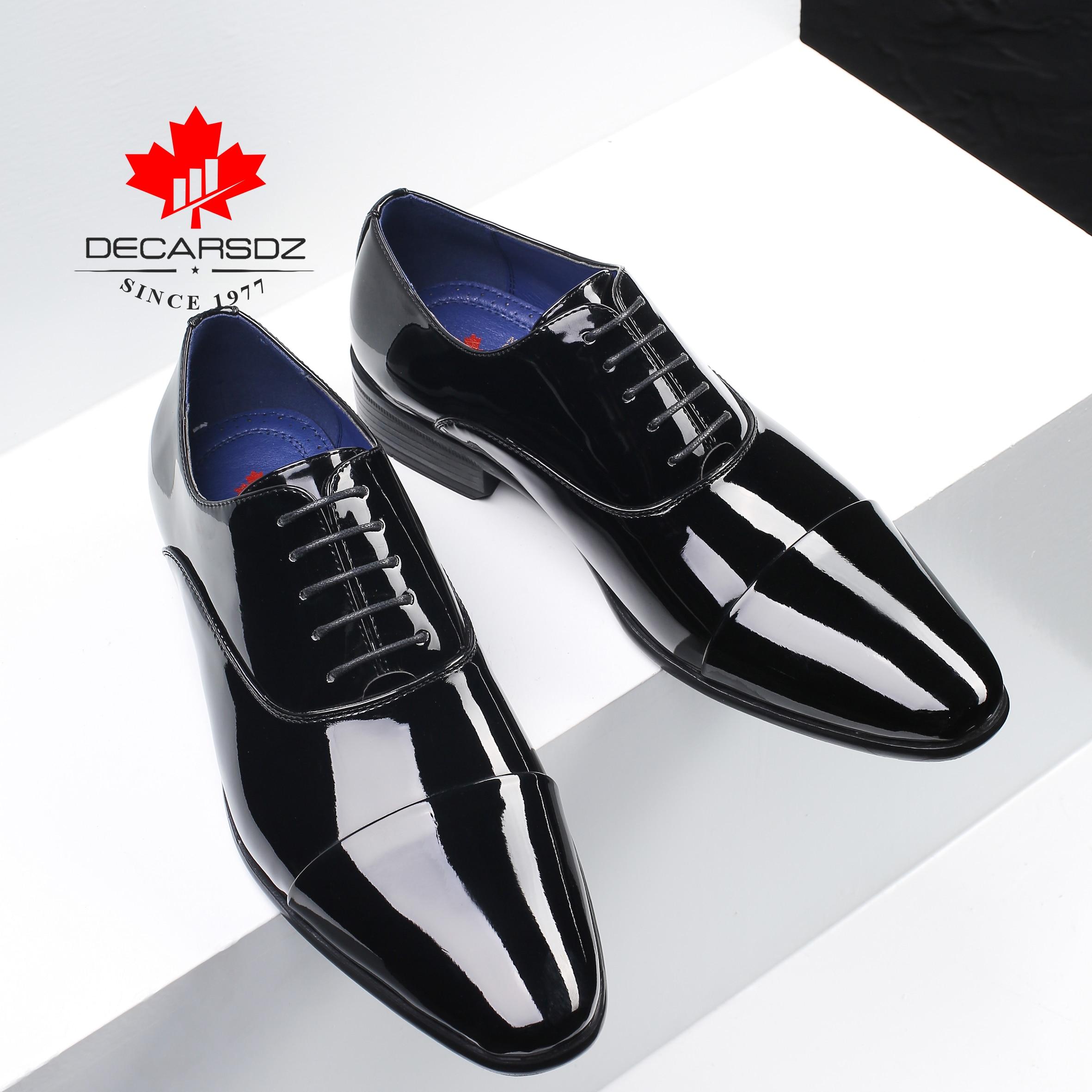 Patent Leather Shoes Men 2019 Designer Oxford Footwear Black Fashion Men s Shoes Business Suits Shoes