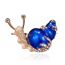 rinhoo 2 Colors Available Rhinestone Snail Brooches for Women Cute Small  Insect Brooch Pin Fashion Enamel f77ab00dfc06