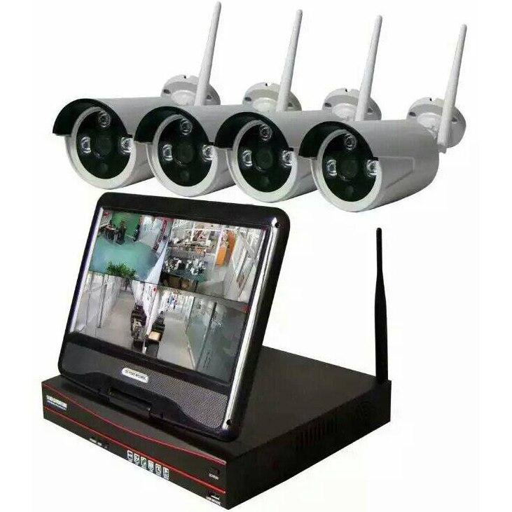 ערכת רשת JSA 4CH אלחוטית NVR 960 P 1.3MP WIFI טלוויזיה במעגל סגור טלוויזיה במעגל סגור IR חיצוני מעקב אבטחת וידאו With4 יחידות מצלמת IP