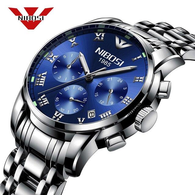 b64b3ae9d67 Relogio masculino NIBOSI Mens Relógios Top Marca de Luxo de Negócios de  Moda Relógio de Quartzo