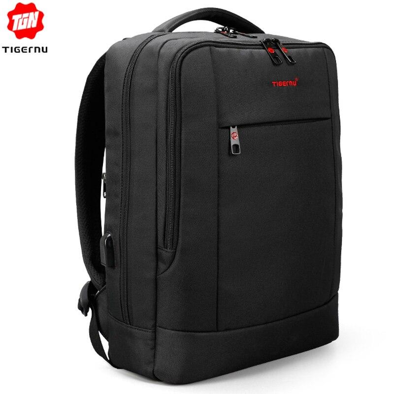 Tigernu USB Charger15 6 inch Laptop Backpack Women Men Slim Laptop Backpacks Bags Men Casual Daily
