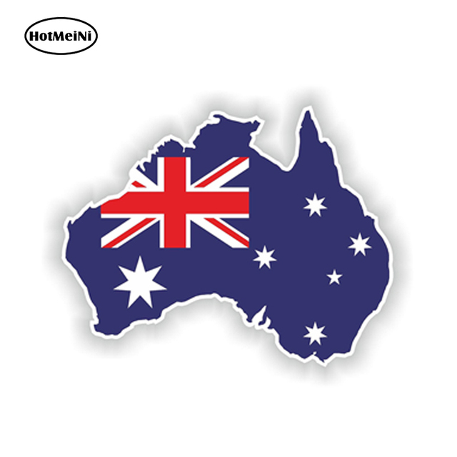 Hotmeini 12 810cm car sticker australia silhouette window bumper waterproof decal map flag car styling