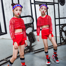 New Children Jazz Dance Costume Girl Hip Hop Dance Clothing Midriff-baring Modern Street Dance Dresses Stage Performance Cloth the new children s jazz modern dance costumes trumpet sleeves and suspenders hip hop dance performance clothing