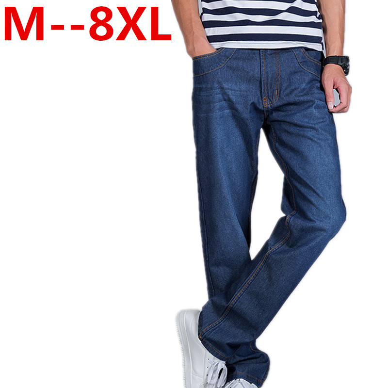 Men Jeans Business Casual Thin Summer Straight Slim Fit Blue Jeans Stretch Denim Pants Trousers Classic Cowboys Young Man Jeans fongimic new men clothing summer thin casual jeans mid waist slim long trousers straight high quality men s business denim jeans