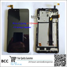 Free shipping Black  LCD Display +Touch Screen Digitizer Assembly with frame For xiaomi hongmi note 2 Redmi note2