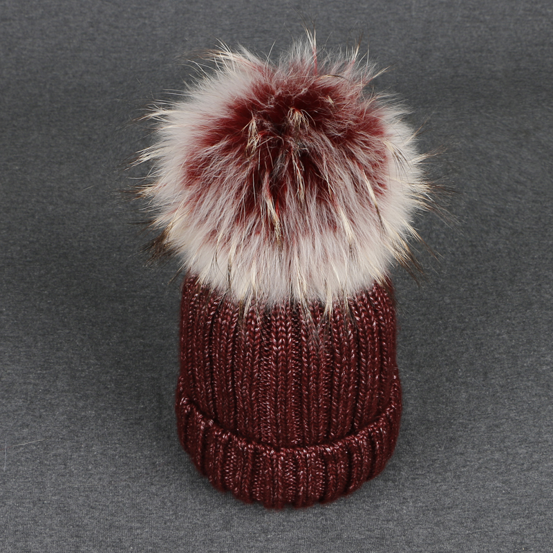 Women Beanies Caps High Quality Mink Fox Bicolor fur ball cap pom poms winter hats for girl cap knitted female cap Skullies bone mink and fox fur ball cap pom poms winter hat for women girls wool hats knitted cotton beanies skullies caps thicken female hats