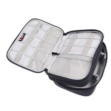 Reise Doppelschichten Große Organizer Tasche Kann Tragen Kabel setzen HDD USB-Stick Wasserdichte Aufbewahrungstasche Elektronische Zubehör