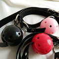 Leather  Band Restraints Ball Mouth Gag Oral Fetish Toy  Fixation Mouth Stuffed Adult Games For Couples  Bondage Sex Products