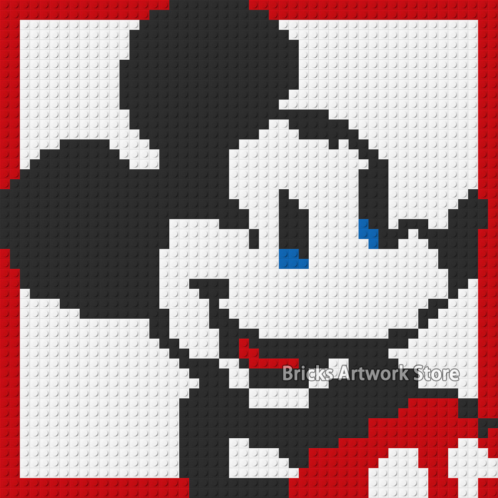 Mickey Mouse Pixel Art us $29.99 35% off|50*50 plate pixel art mosaic painting set diy cartoon  figures mickey mouse sponge portrait bob building blocks toy creative