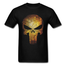 Punisher Skull Logo Tops Men T-shirts Black T Shirt VALENTINE DAY Gift