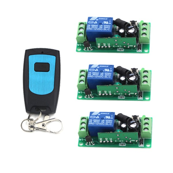 RF Remote Switch Wireless Remote control ON/OFF DC12V 10A Relay Remote Controllers For Light Switch SKU: 5191
