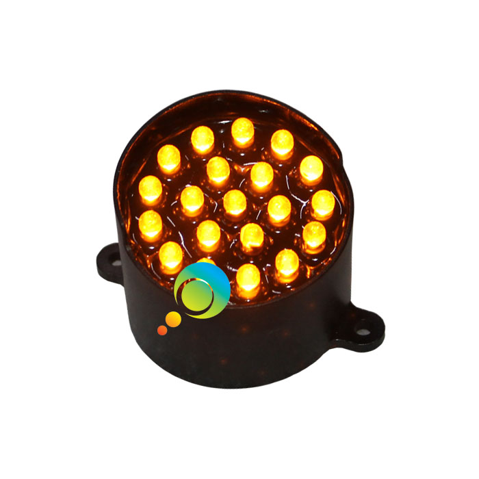 Customized 52mm LED pixel cluster yellow light traffic LED module