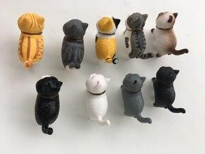 Image 4 - 9 قطعة/الوحدة القط الصغير kawaii ACTOYS اليابان أنيمي جميل أجراس القط عطلة هدية عمل الشكل تحصيل نموذج لعب للأطفال