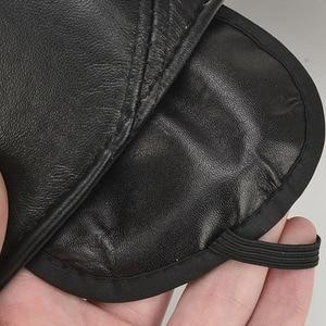 Image 5 - [AETRENDS] koyun derisi deri kap kış şapka erkekler için hakiki deri beyzbol şapkası kulaklı baba şapka şoför şapkası Casquette Z 5295