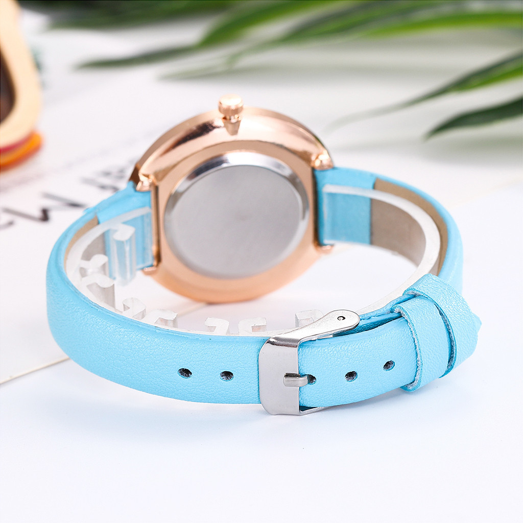 Top Brand Fashion Ladies Watches Leather Female Quartz Watch Women Thin Casual Strap Watch Reloj Mujer Marble Dial #YT221