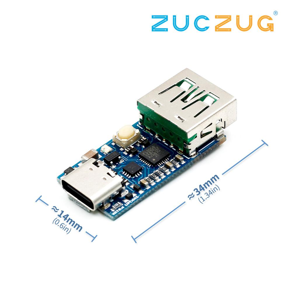 WEB-UPD005 PD DC Decoy Detection PD2.03.0 Fast Charge Trigger Module QC4+ Polling HID Programming