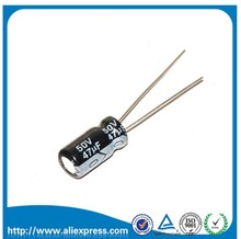 Condensateur électrolytique en aluminium 50 V 47 UF 47 UF 50 V taille 6*12 MM 50 V/47 UF condensateur électrolytique 50 pièces