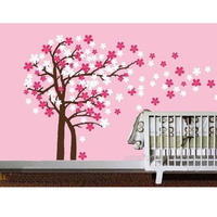 Tree Wall Stickers For Kids Room Decoration Wall Paper Art Viny Removable Sticker Flower Tree Size