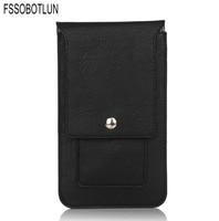 FSSOBOTLUN 4 Colors Double Portable Waist Belt Clip Holster Mobile Phone Case For ZTE Axon 7