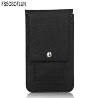 FSSOBOTLUN 4 Colors Double Portable Waist Belt Clip Holster Mobile Phone Case For ZTE Axon 7