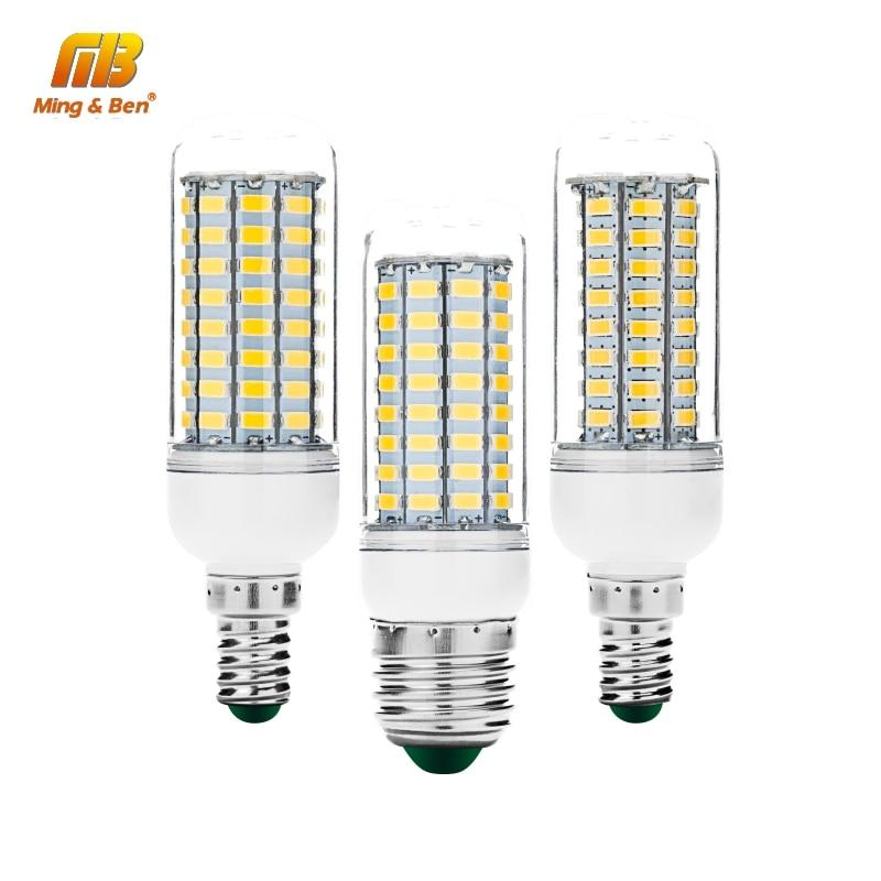 E27 E14 LED Bulb 30 36 56 72 89LEDs Chandelier Candle SMD5730 Lamp Light LED Corn Light 220V Lampada LEDs Candle Light Spotlight