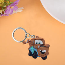 1PCS Cars Cute Cartoon Keychain Key Ring Gift For Women Girls Bag Pendant PVC Figure Charms Key Chains Jewelry porte clef(China)