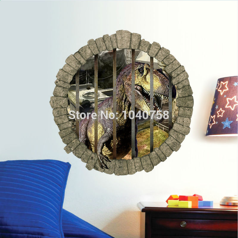 D Jurassic World Park Dinosaurs Wall Stickers For Kids Rooms Boy - 3d dinosaur wall decalsd dinosaur wall stickers for kids bedrooms jurassic world wall