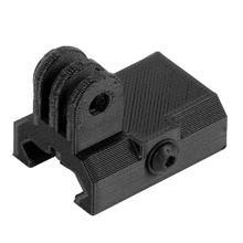 3D Printed  PLA Material Rail Mount Adapter Tripod for DJI OSMO Action for GoPro Hero 3+ 4 5 6 7 SJcam YI EKEN Sports Camera цена и фото