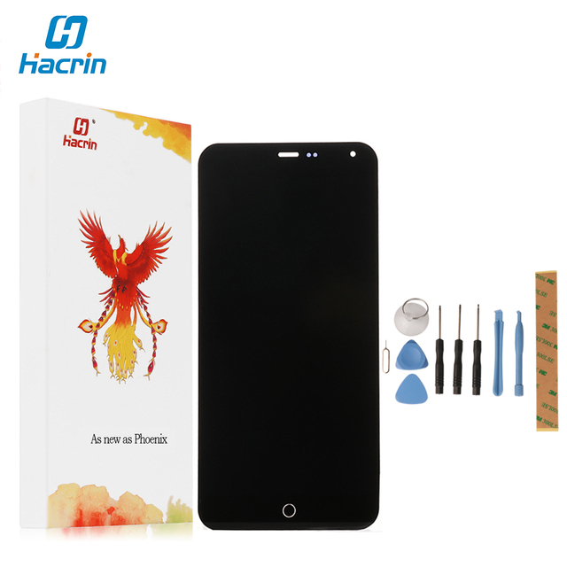 Hacrin For Meizu m1 Note Display 100% New LCD Screen+Touch Screen Digital Panel Glass Repair For Meizu MTK6752 5.5 inch