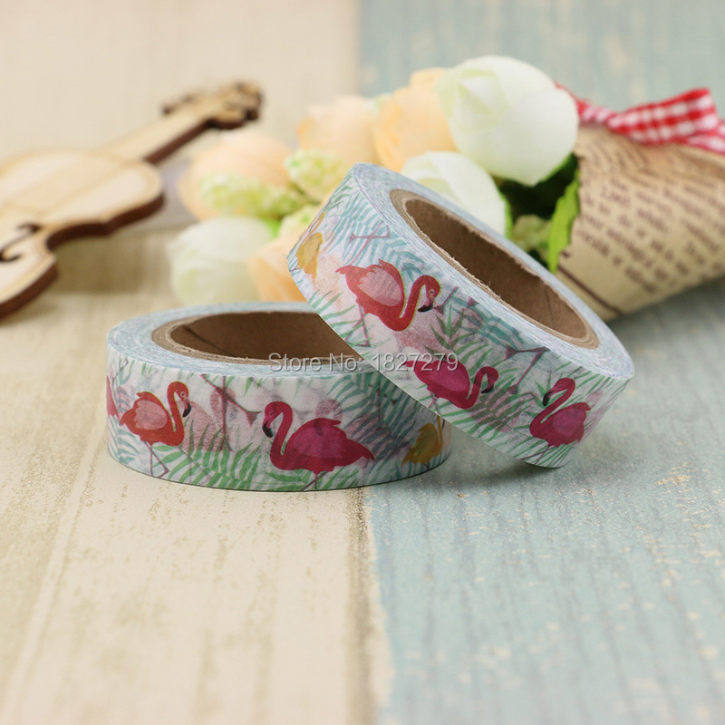 1pcs Japanese Paper Animal Swan Washi Tape Paper Masking Tapes Adhesive Tapes Stickers Stationery Supplies Tape
