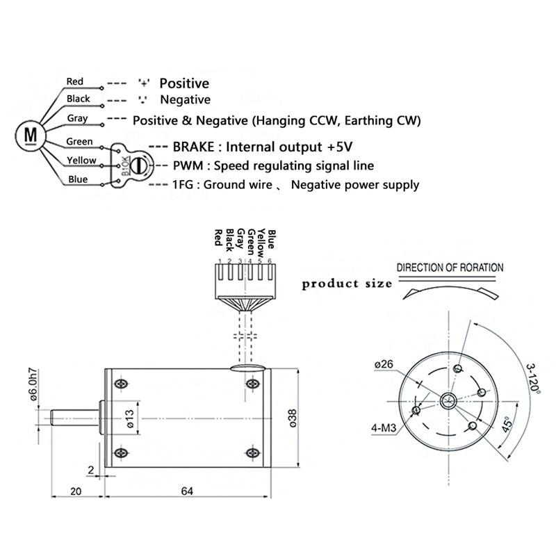 38SRZ S DC Brushless Gear Motor 12V 24V 2000 3000 4000 5000RPM Built in Drive Small Brushless Motor For DIY Hobby Free Assembly in DC Motor from Home Improvement