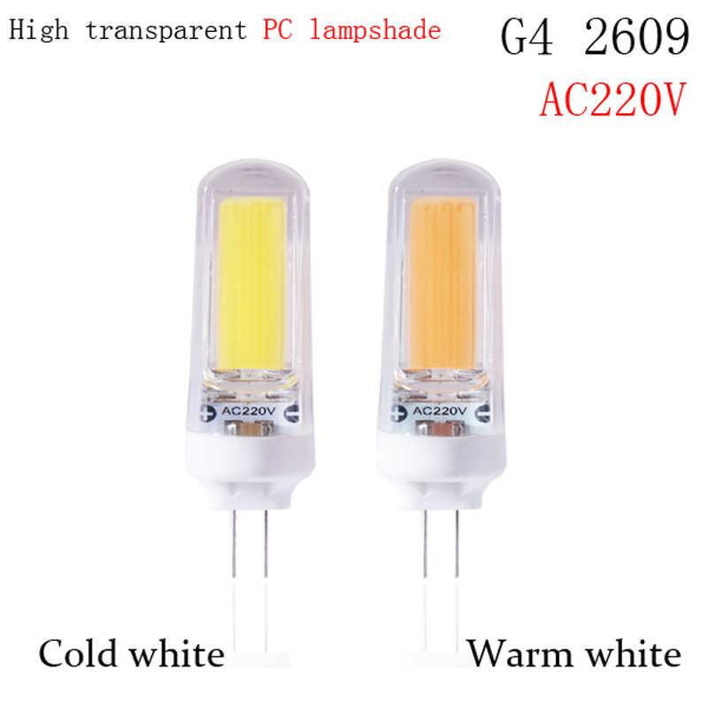 G4 led Lamp 12V AC220V SMD3014 3W 5W 6W 220v 2508 2609 COB LED Replace 20w 30W 40W 70W halogen lamp 360 Beam Angle LED Bulb