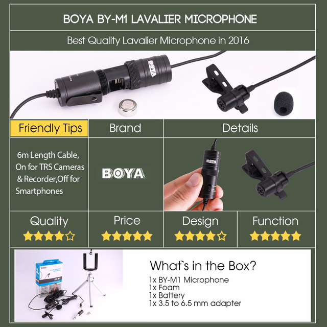 Label Lavalier for iPhone Android for Canon Nikon DSLR Camcorder Audio Recorders Omnidirectional Condenser Microphone