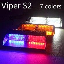 Super Brillante 16LED 48 W Viper S2 Señal led parpadeante luz de advertencia Rojo/Bule/amarillo/Blanco de la Policía Flash del estroboscópico de emergencia Luces