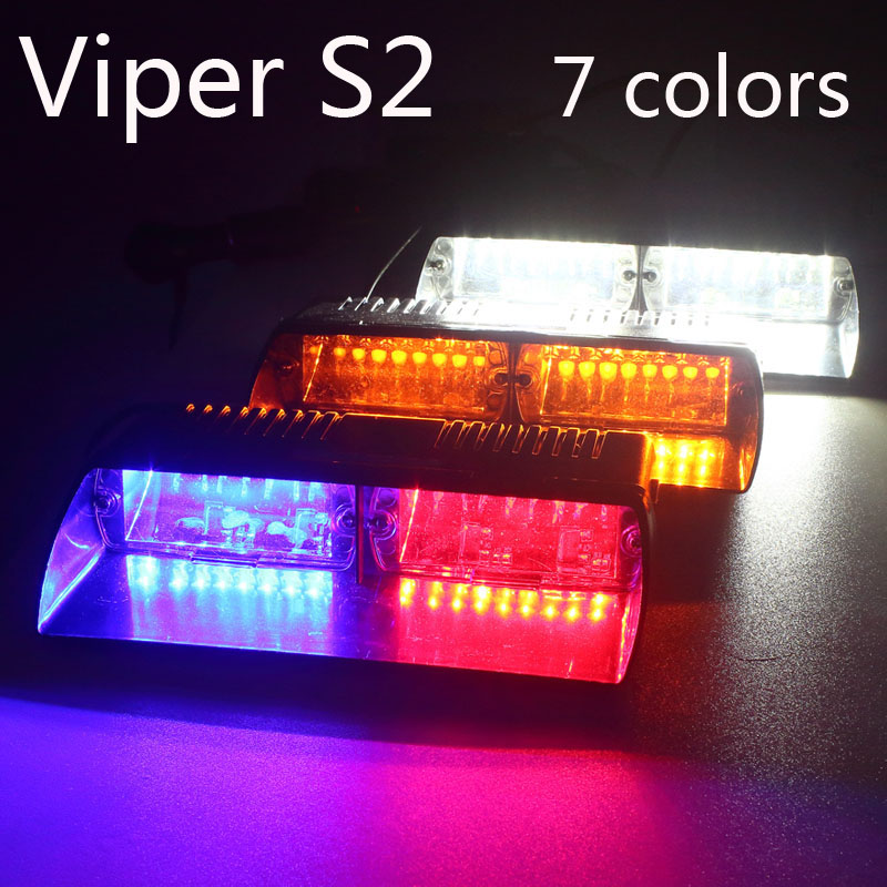 Prix pour Super Lumineux 16LED 48 W Viper S2 Signal clignotant led avertissement lumière Rouge/Bule/jaune/Blanc Police Flash stroboscopique Lumières d'urgence