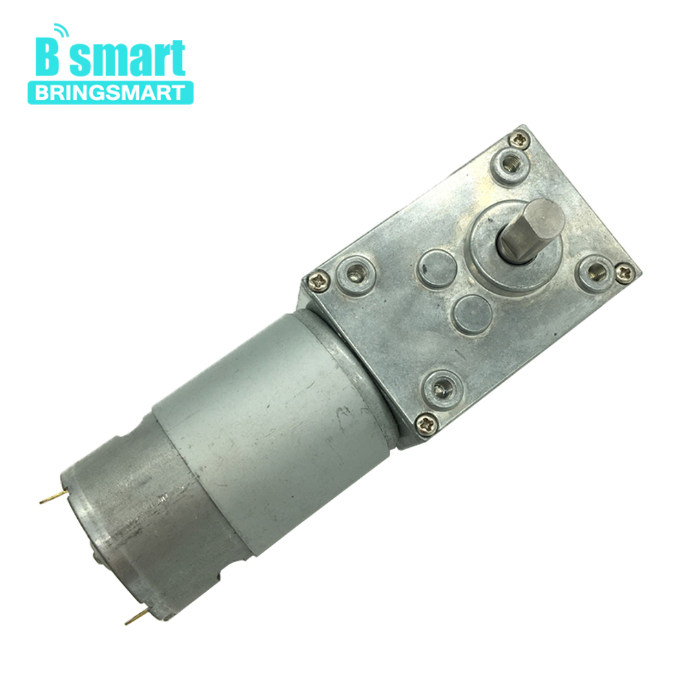 Bringsmart A58SW-555 12V Worm Gear Motor 5-70kg.cm DC 24V High Torque Mini Engine Gearbox Motor Self-lock for DIY Robot bringsmart worm gear motor high torque 70kg cm 12v dc motor mini gearbox 24v motor reversed self lock engine diy parts a58sw31zy