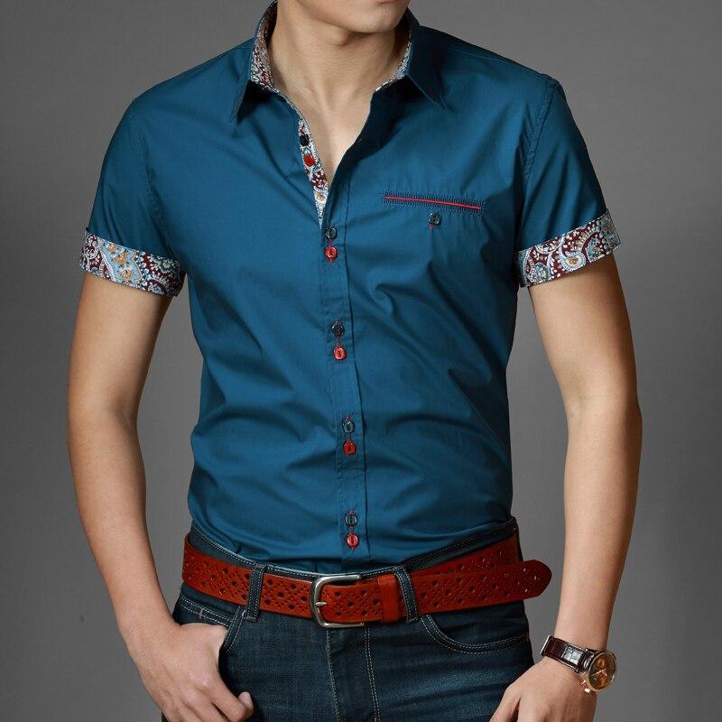 Nuevos 2015 Italian vestido camisetas hombres blusas de