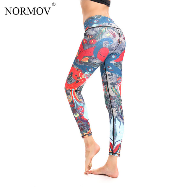 d9144832fc2eac NORMOV Leggings Women Qickitout Push Up Printed Legging Women Leggings High  Waist Red Colour Fitness Leggings
