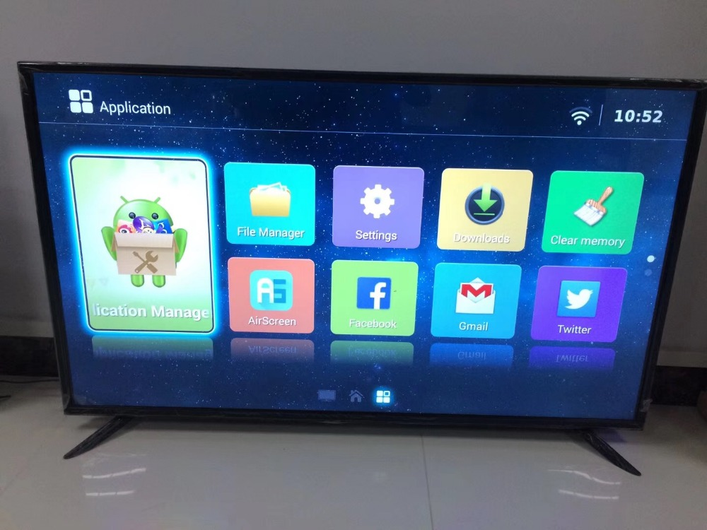 Customize 55 60 65 70 75 Inch HDMI 1080p SMART WIFI LED TV HD Ips TFT Intelligent Network LED TV Television