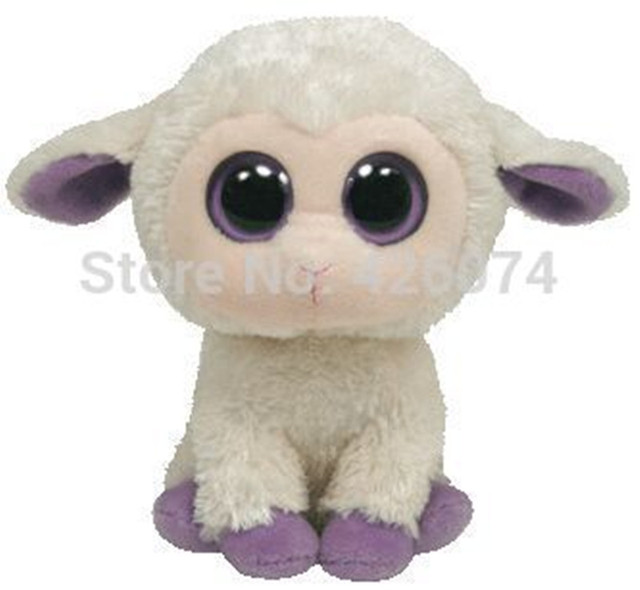 Ty Beanie Boos Big Eyes Stuffed Animals Clover The Lamb Plush Kids