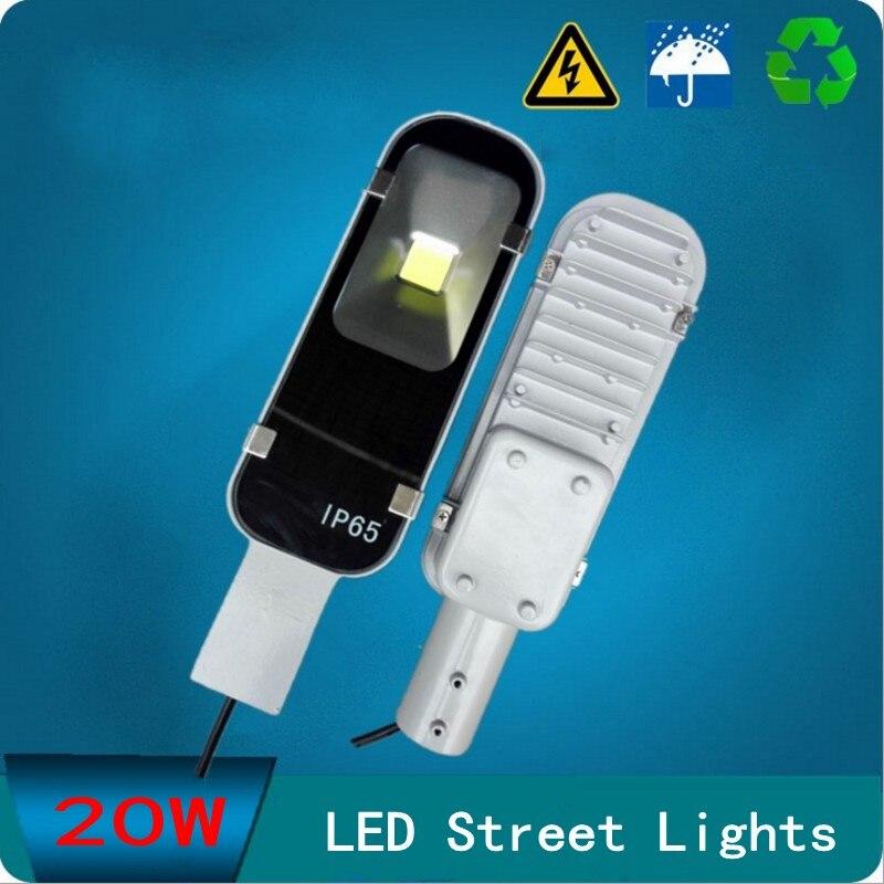 LED Streetlight 20W Street Lights Road Lamp waterproof IP65 45mil COB led chip lumen AC110-240V led street light free shipping d20w30w40w50w60w80w road lamp head can pick arm street lights