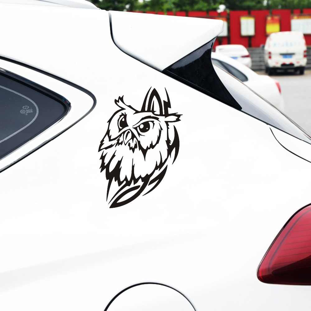 Fun Owl Eagle Car Sticker Window Windscreen Bumper Laptop Door Wall Vinyl Decal