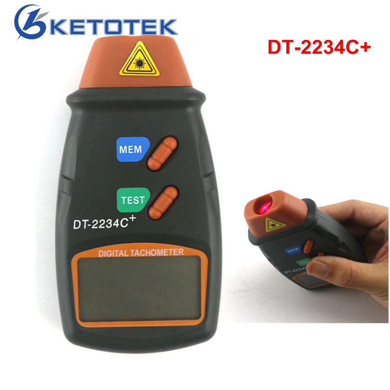 DT-2234C Digital Laser Tachometer Non-contact Engine Speed Meter Speedometer dt 2856 photo touch type tachometer dt2856