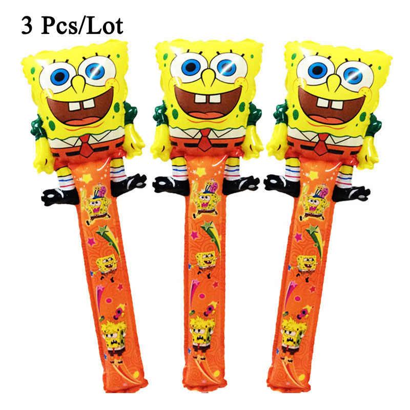 75x25 ซม. บอลลูน spongebob cheer sticks บอลลูน party อุปกรณ์ตกแต่ง spongebob stick บอลลูน