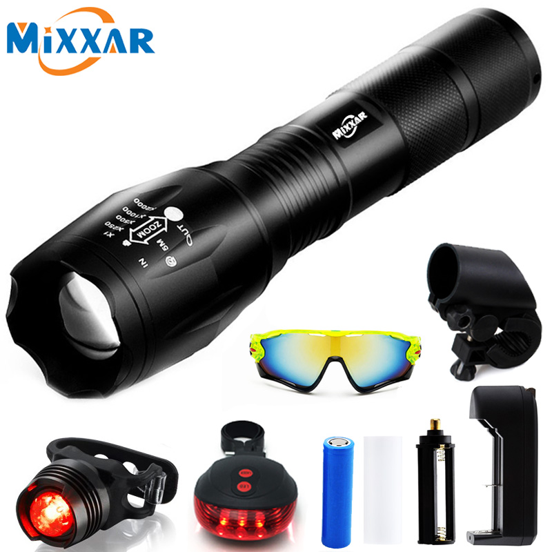 E LED 8000LM Front Torch Waterproof Zoomable Flashlight 5 Mode CREE XM-L T6 Mount Bicycle Lamp Bike Lights for Camping Cycling стоимость