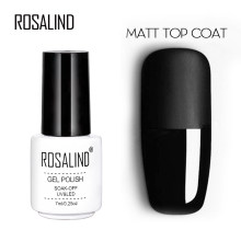 Rosalind 7Ml Matt Top Coat Gel Lak Langdurige Soak-Off Geleid Uv Gel Kleur Manicure Polish voor Nail Art Gel Lak