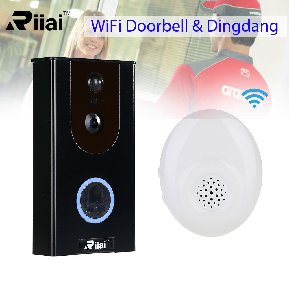 Sonnette intelligente WiFi sans fil HD720P anneau de porte à came visuelle avec interphone PIR 2 voies Audio sécurité à domicile pour Smartphone Android IOS